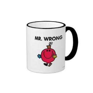 Mr Wrong Classic Ringer Coffee Mug