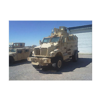 MRAP US MILITARY ARMOR CANVAS PRINT