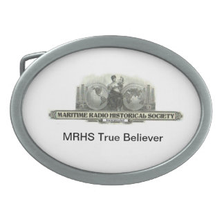 MRHS True Believer Oval Belt Buckle