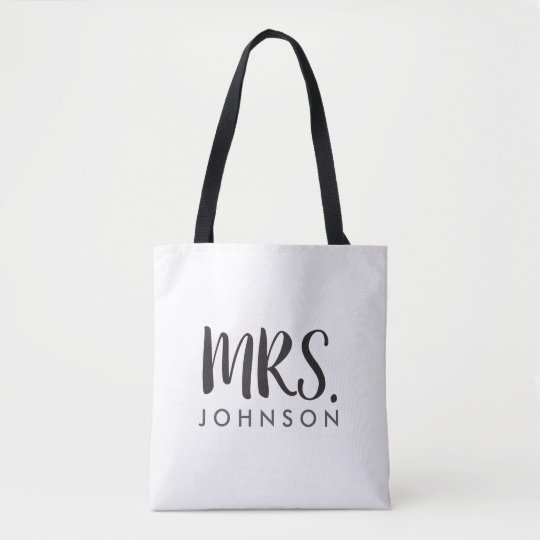 Mrs. All Over Custom Print Bag