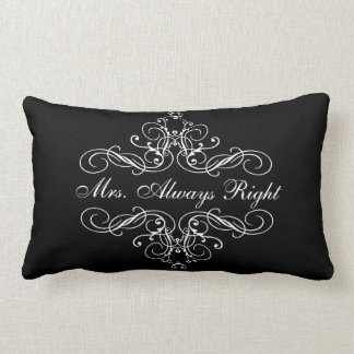 Mrs. Always Right Elegant Boudoir Bed Pillow