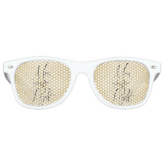Mrs Always Right linen pattern Retro Sunglasses