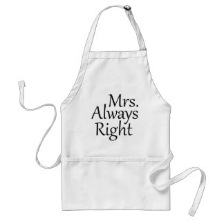 Mrs. Always Right Standard Apron
