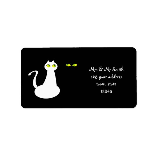Mrs and Mr Cats Minimalistic Address Label