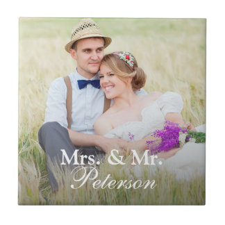 Mrs. And Mr. Elegant Photo Tile