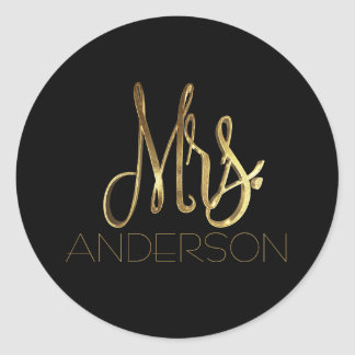 Mrs. Anderson Black Gold Typography Seal