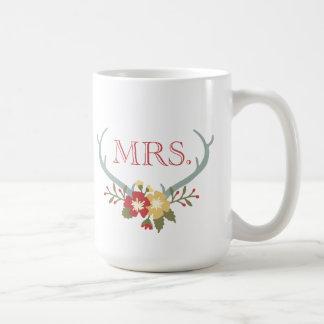 Mrs. Antler Floral Mug