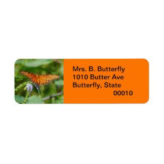 Mrs. B. Butterfly Label Return Address Label