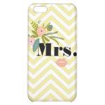 Mrs Bride Peach Lip Zig Zag Pattern iPhone 5 Case