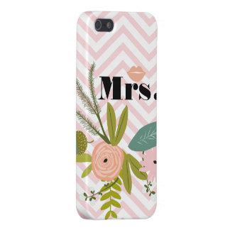 Mrs Bride Peachy Pink Lip Zig Zag iPhone 5 Case