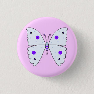 Mrs Butterfly 1 Inch Round Button