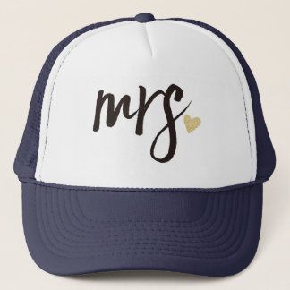 Mrs. Calligraphy Personalized-2 Trucker Hat