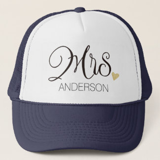Mrs. Calligraphy Personalized-3 Trucker Hat