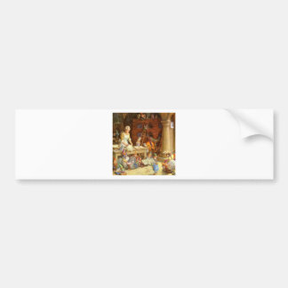 Mrs. Claus and the Elves Bake Christmas Cookies Bumper Sticker