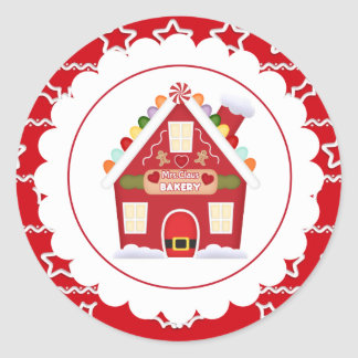 Mrs. Claus Bakery Christmas Holiday party sticker