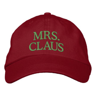 Mrs. Claus Embroidered Hat
