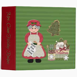 Mrs. Claus Kitchen Holiday Recipes BINDER