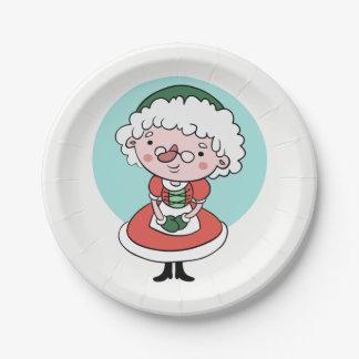 Mrs. Claus paper plates