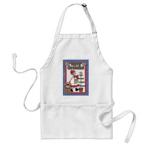 Mrs. Clause Tree Decorating Aprons