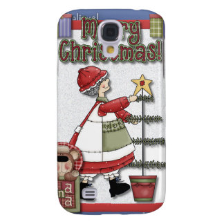 Mrs. Clause Tree Decorating Galaxy S4 Cover