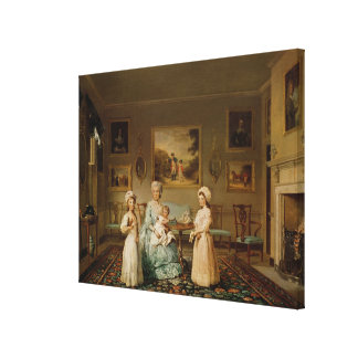 Mrs Congreve and her children Canvas Print