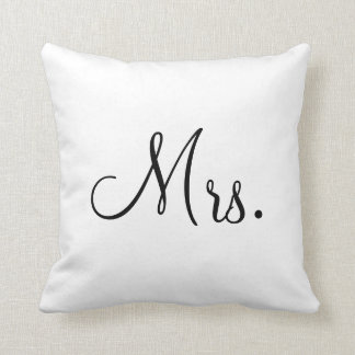 Mrs. Customized Throw Pillow