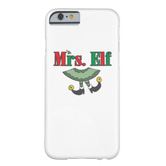 Mrs. Elf Matching Couple Christmas Barely There iPhone 6 Case