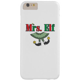 Mrs. Elf Matching Couple Christmas Barely There iPhone 6 Plus Case