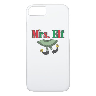 Mrs. Elf Matching Couple Christmas iPhone 8/7 Case