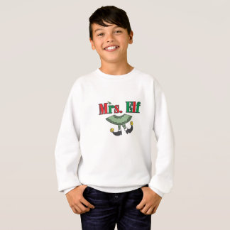 Mrs. Elf Matching Couple Christmas Sweatshirt