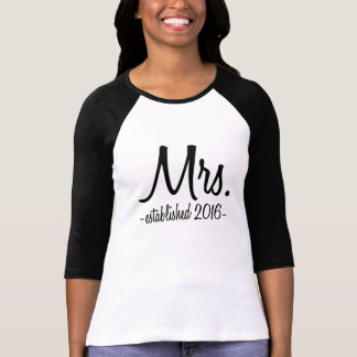 Mrs. Established 2016 women's shirt