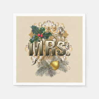 MRS. First Christmas Paper Napkin