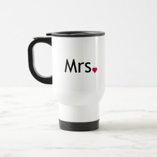Mrs  - half of Mr and Mrs set Travel Mug