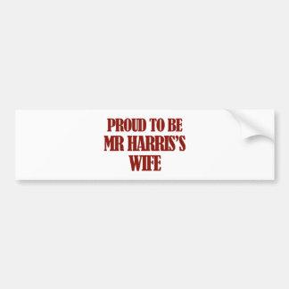 Mrs Harris designs Bumper Stickers