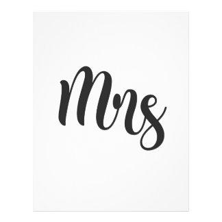 Mrs Letterhead