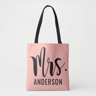 Mrs. Married Monogram Tote Bag
