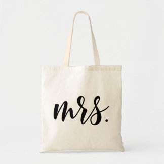 Mrs. Modern Wedding Script Tote Bag