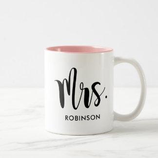Mrs. Monogram Mug   Married