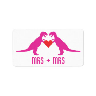 Mrs+Mrs- Love is Love Dinosaurs Labels
