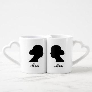 Mrs./Mrs. Nesting Mug Set Lovers Mug Sets