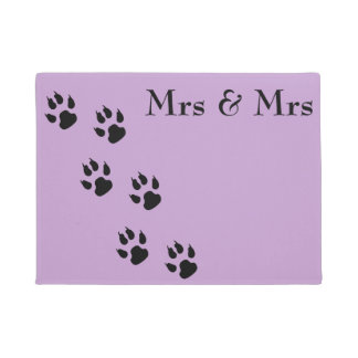 Mrs & Mrs / pawprints Doormat