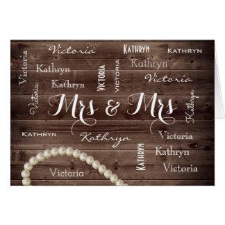 Mrs & Mrs Rustic & Elegant Wedding Card