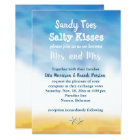 Mrs. & Mrs. Sandy Toes Wedding Invite - sky & sand