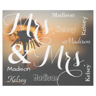 Mrs & Mrs Summer Scene Personalized Names