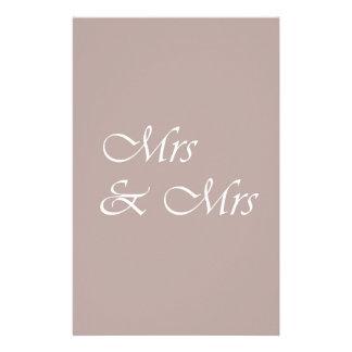 Mrs & Mrs Typography Stationery Design