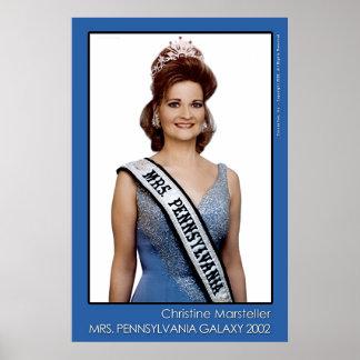 Mrs. Pennsylvania Galaxy 2002 - Blue Poster