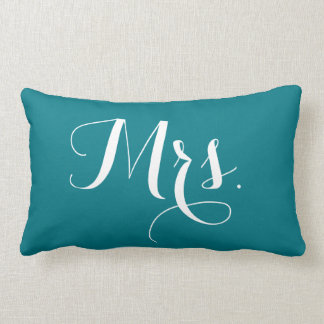 """Mrs."" pillow"