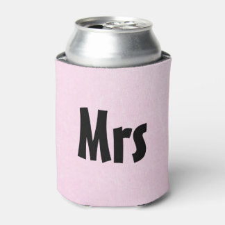 """Mrs"" Pink Soda or Beer Cooler"