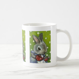 Mrs Rabbit making tea Classic White Coffee Mug