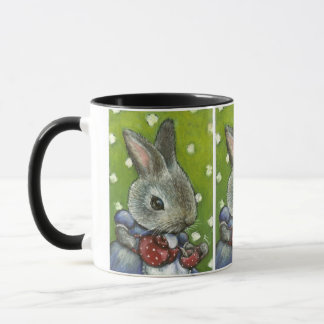 Mrs Rabbit making tea Mug